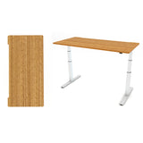 Bamboo Rectangle Table Top Flat Edge Profile