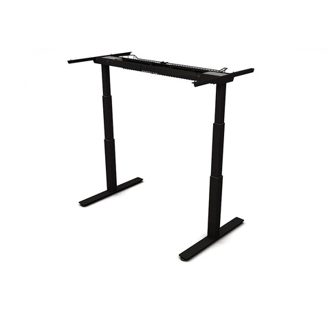 AGILE 1.2 Black - FRAME ONLY - Sit-Stand adjustable Desk