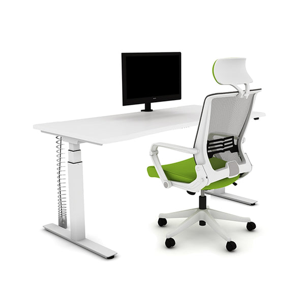 AGILE 1.2 White - FRAME ONLY - Sit-Stand Adjustable Desk