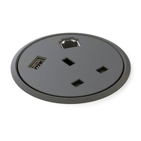 In Desk Single Socket Power Module