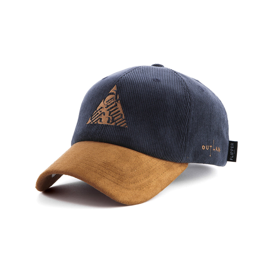 Thuglife Triangle Cap | Navy Suede