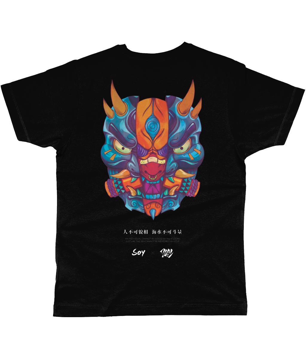 SOY X DOM TSOI Demon Mask Tee Blue/Orange