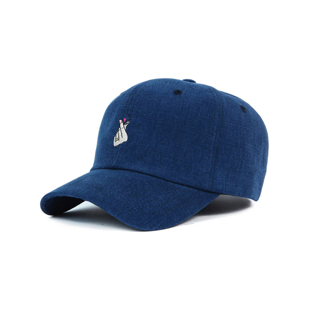 Korean Heart Sign Cap | Navy