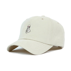 Korean Heart Sign Cap | Beige