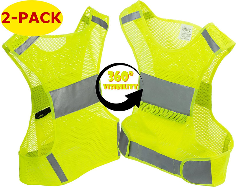 Reflective Vest For Running Or Cycling 2 Pack