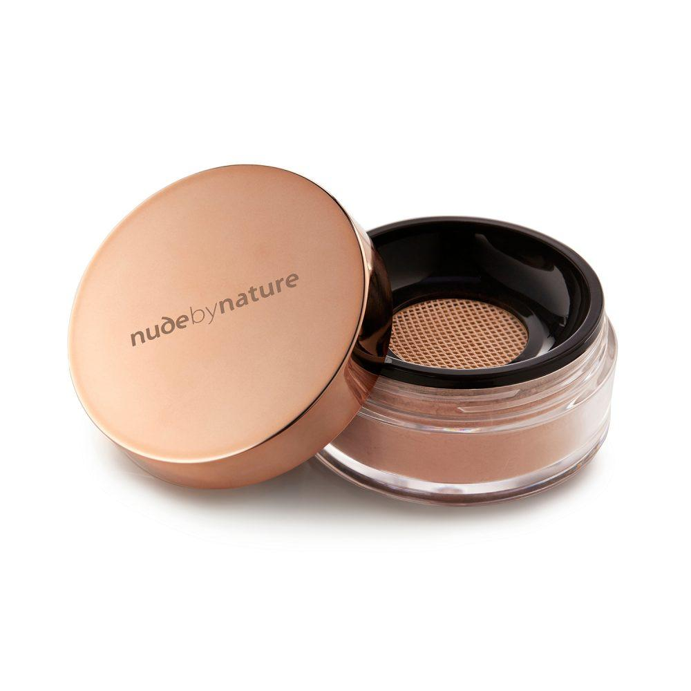 Nude by Nature Mineral Cover, Bronzer, Finishing Veil & Brush