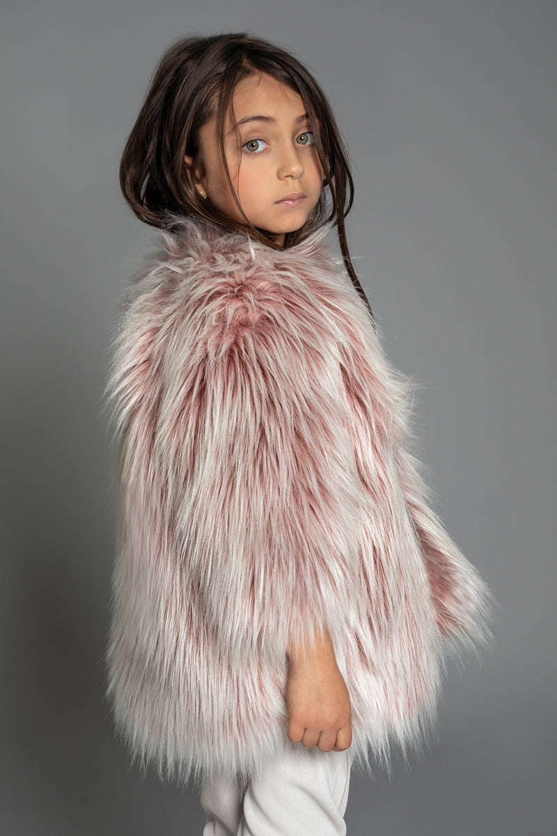 FAUX FUR COAT PINK