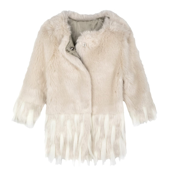 FAUX FUR COAT SAND
