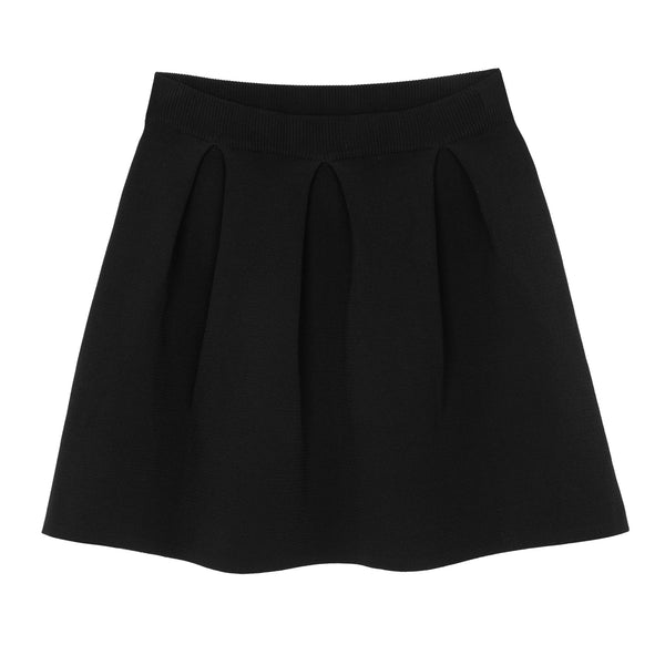 KNITTED JACARD SKIRT BLACK