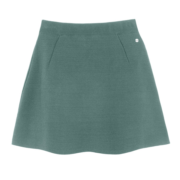 KNITTED JACARD SKIRT MINT