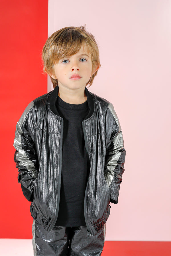 NYLON BOMBER BLACK
