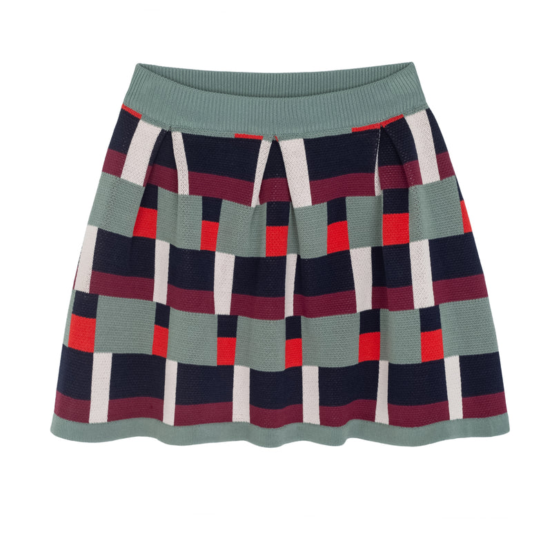 KNITTED JACQUARD SKIRT PRINTED