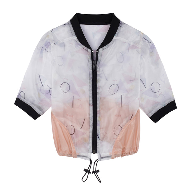 ORGANZA PRINTED JACKET PEACH