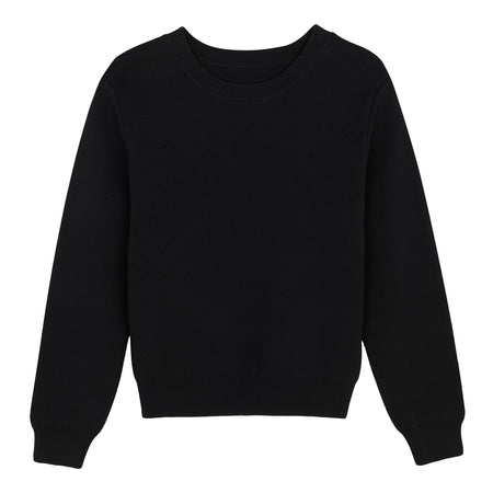 KNITTED MILANO TOP BLACK