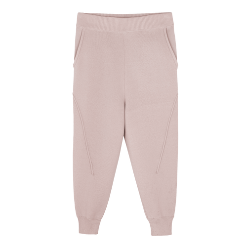 KNITTED JUMPER PANTS PEACH