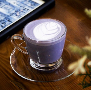 Four Ingredient Taro Latte Recipe