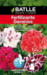 Fertilizante geranios soluble
