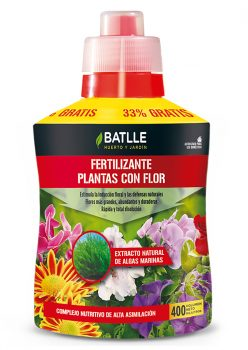 Fertilizante plantas con flor - botella 400ml