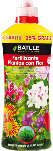 Fertilizante plantas con flor - botella 1250ml
