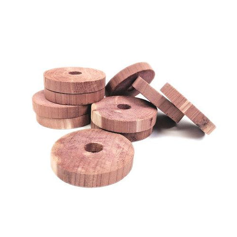 Set of 80 Natural Cedar Rings