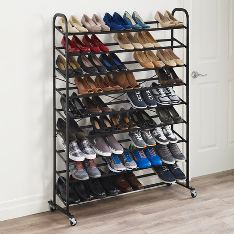 Rolling 9 Tier Mega Shoe Tower
