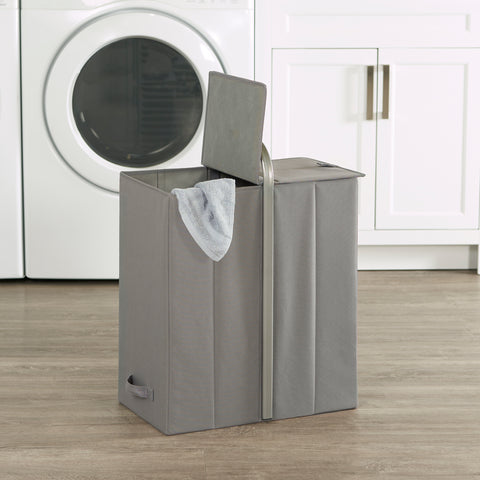 Portable Double Laundry Sorter w/Lid