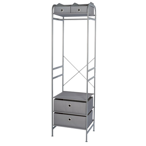 Narrow Wardrobe Storage Organizer w Bins