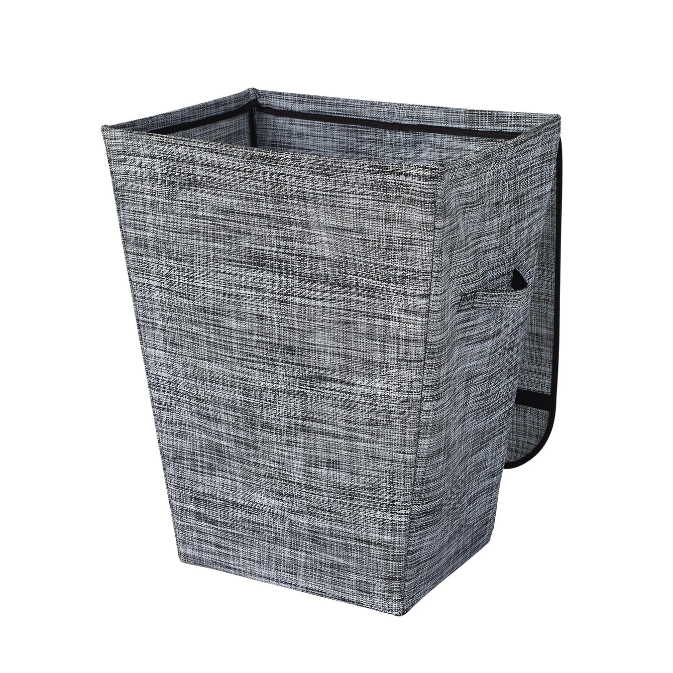 Woven Poly-Vinyl Laundry Hamper with Lid
