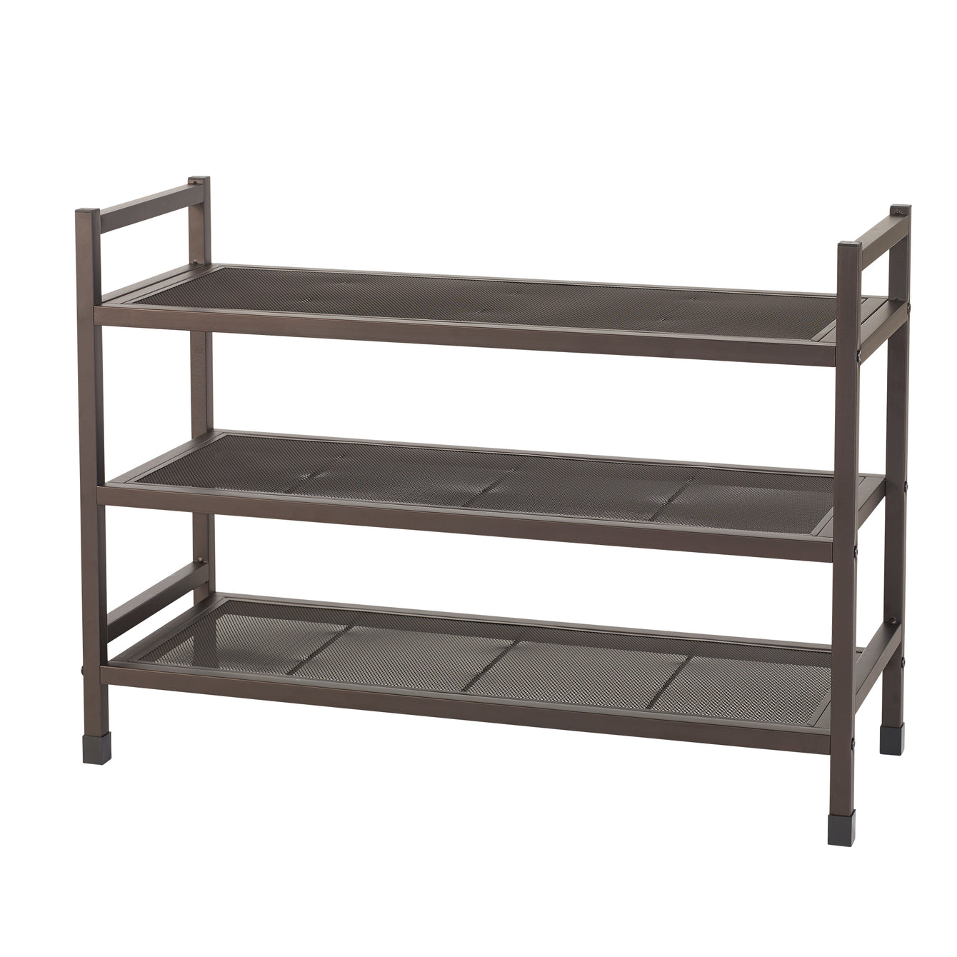 Heavy Duty 3 Tier Stackable Metal Shoe Rack