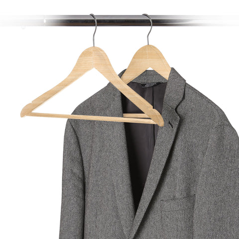 Set of 30 - Wood Contoured Suit Hanger