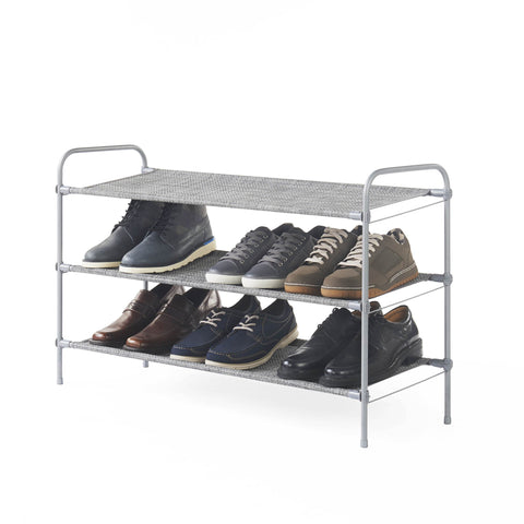 3 Tier Fabric Shoe Shelf