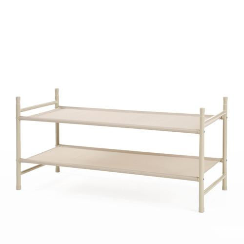Stackable 2-Tier Fabric Shelf
