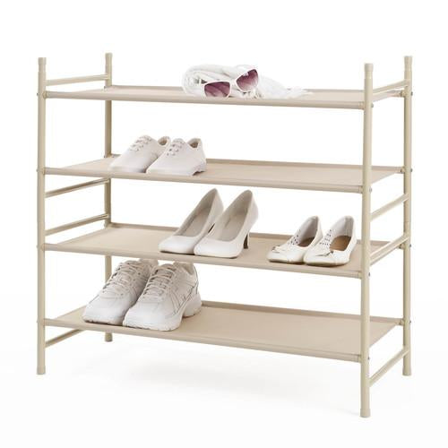 2 Tier Stackable Fabric Shelf