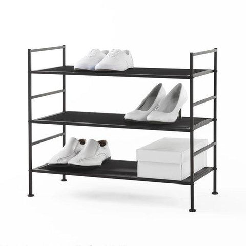 3 Tier Stackable Metal Shoe Rack