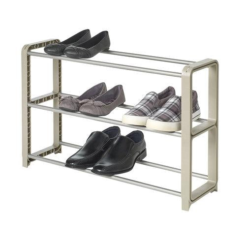 3 Tier Adjustable and Stackable Shoe Rack