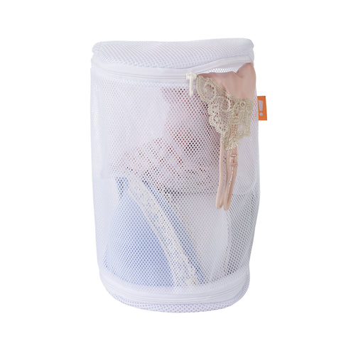 Mesh Bra Wash Bag w Dual Compartments