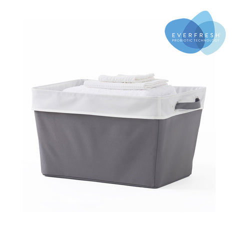 Collapsible Stowaway Fabric Laundry Basket