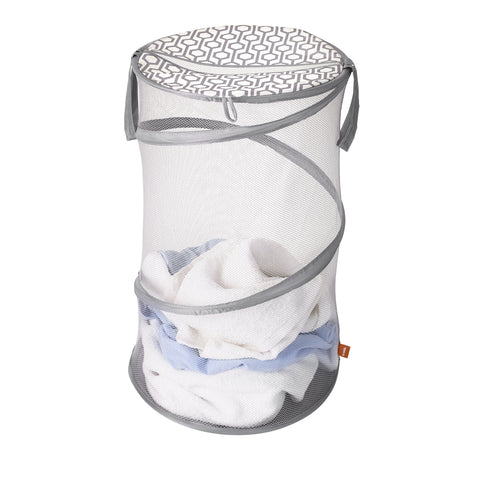 Round Mesh Pop-Up Hamper