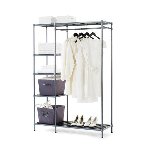Open Storage Closet w 5 Shelves