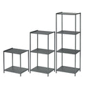 Set of 3 - Stamped Metal Storage Shelf