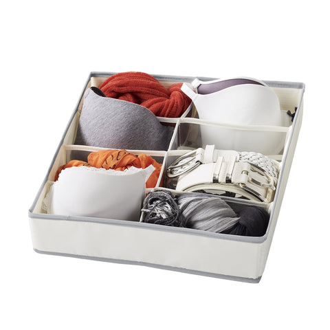Set of 6 - 8 Compartment Drawer Organizer