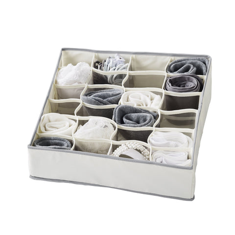 Set of 6 - 24 Compartment Drawer Organizer