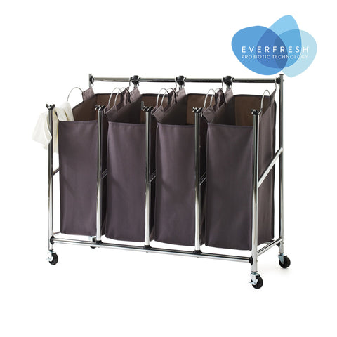 Rolling Easy-Reach Quad Laundry Sorter