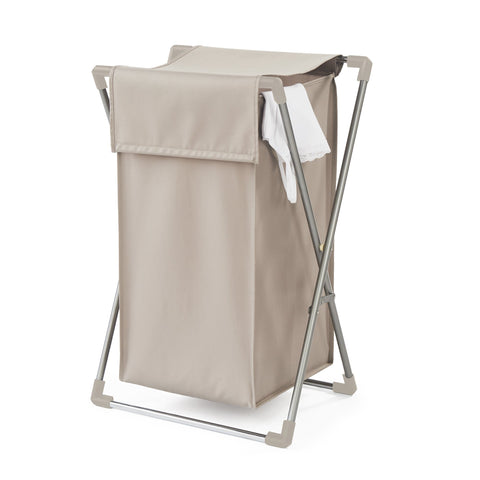 Single Folding Laundry Hamper w Lid