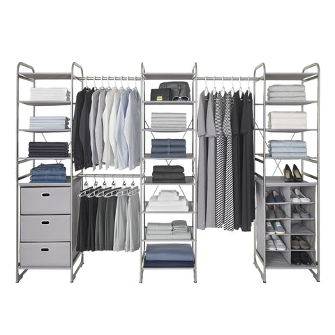 Expandable Versa Closet System Kit (Drawer + Cubby + Shelf)