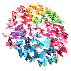 72pcs Colorful Mixed 3D Butterflies Stickers