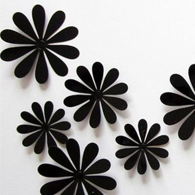 Multi Variant 12pcs 3D Mixed Flowers Stickers