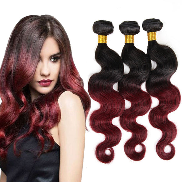 Morningsilkwig Body Wave 100 Human Hair 1b 99j Brazilian Hair
