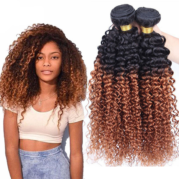 Morningsilkwig Brazilian Hair Bundles Kinky Curly Weave Human Hair