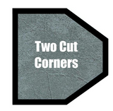 Two Cut Corners Shaped Hot Tub Cover